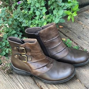 Earth Origins brown leather ankle boot sz 8.5